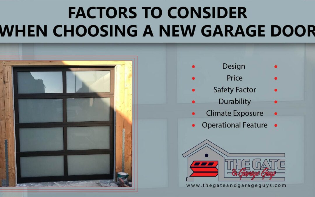 Factors To Consider When Choosing a New Garage Door