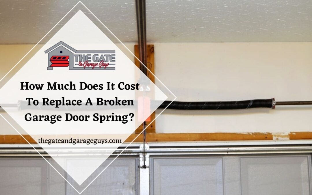 How Much Does It Cost To Replace A Broken Garage Door Spring?